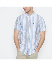 Lee Jeans - Multicoloured Striped Short Sve Regular Fit Shirt - Lyst