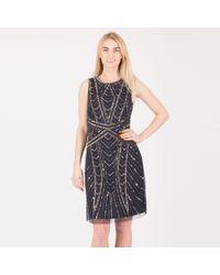 Anna Field - Dark Blue Embellished Mini Party Dress - Lyst