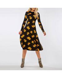 6b12b56fb8d Dorothy Perkins Blue Lemon Print Fit And Flare Dress in Blue - Save 52% -  Lyst
