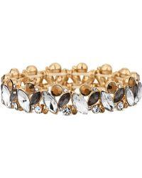 Matthew Williamson - Gold Baroque Crystal Stretch Bracelet - Lyst