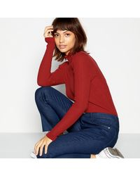 Red Herring Herring Frill Ribbed Jumper - Red