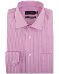 Double Two - Pink Stripe Formal Shirt - Lyst