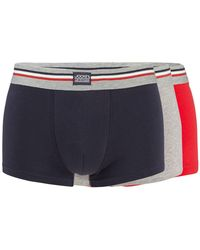 Jockey - Pack Of Three Red Navy And Grey Trunks - Lyst