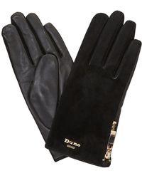 Dune - Black 'ivie' Zip Detail Glove - Lyst