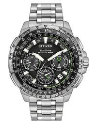 Citizen - Men's Stainless Steel Satellite Wave Gps Chronograph Watch Cc9030-51e - Lyst