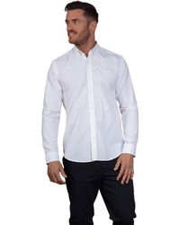 Raging Bull - White Long Sleeve Pinpoint Oxford Shirt - Lyst