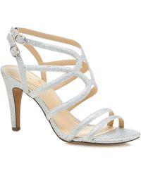 Début Silver Glitter 'dorinda' High Stiletto Heel Sandals - Metallic