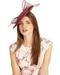 Phase Eight - Pink Allegra Bow Back Disc Fascinator - Lyst