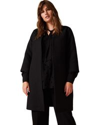 Studio 8 Sizes 16-26 Florence Textured Coatigan - Black