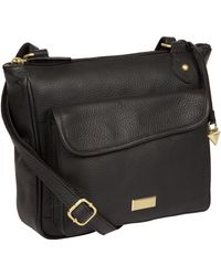 f8f3f439f0fc Cultured London - Black 'aria' Leather Cross Body Bag - Lyst