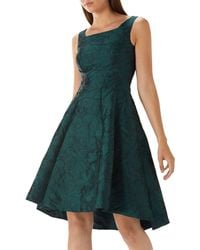Coast - Forest Green 'ava May' Jacquard High Low Dress - Lyst