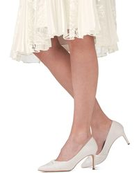 Phase Eight Ivory Kendal Satin Court Shoes - Multicolour