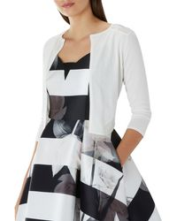 Coast - Ivory 'mab' 3/4 Sleeve Cover Up - Lyst