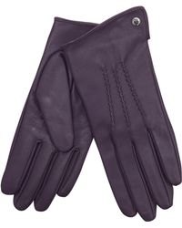 J By Jasper Conran - Purple 3 Point Leather Gloves - Lyst