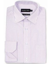 Double Two - Pink Faint Stripe Formal Shirt - Lyst