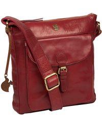 Conkca London - Chilli Pepper 'josephine' Leather Shoulder Bag - Lyst
