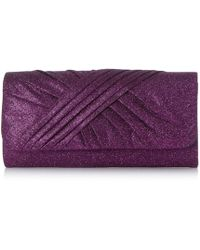 Roland Cartier - Purple  bailee  Ruched Fabric Clutch Bag - Lyst 9ecee8d4b2b61