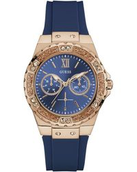 Guess - Ladies Blue Strap Watch - Lyst