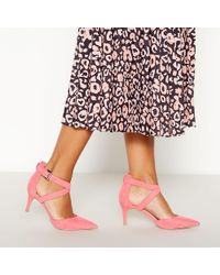 d32e5434ff Faith - Pink Suedette  caff  High Stiletto Heel Pointed Toe Shoes - Lyst