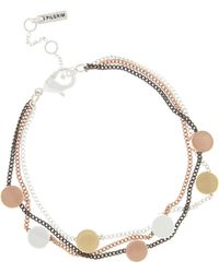 Pilgrim - Mix Metal Plated 'nora' Bracelet - Lyst