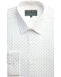 Racing Green - Selwyn Tailored Fit Print Formal Shirt - Lyst