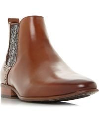 cf2304c621c59 Dune Black  mumford  Paisley Panel Chelsea Boots in Black for Men - Lyst