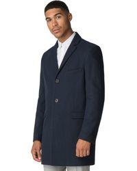 f950afdd0 Sapphire Melton Overcoat - Blue