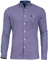 Raging Bull - 3 Purple Colour Cotton Check Shirt - Lyst
