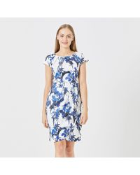 3c70c2bc944 Ted Baker China Blue Print Tunic Dress in Natural - Lyst