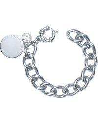 Tommy Hilfiger - Ladies Stainless Steel Medallion Bracelet2700474 - Lyst