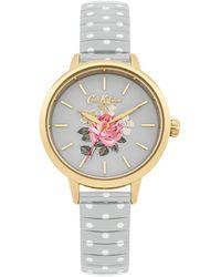 Cath Kidston Ladies Grey Polka Dot Expander Watch Ckl009eg - Metallic