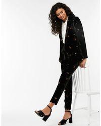 Monsoon - Black 'sophia' Sprig Embroidered Jacket - Lyst