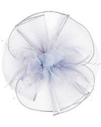Quiz - Grey Flower Bead Fascinator - Lyst