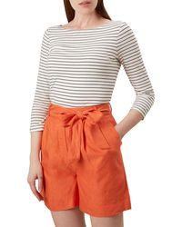 Hobbs Orange 'vic' Shorts