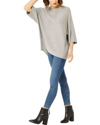 Warehouse - Rib Panel Knitted Top - Lyst