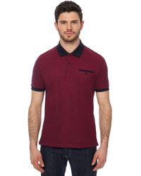 Ben Sherman - Purple Oxford Tonic Polo Shirt - Lyst