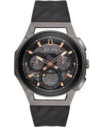 Bulova - Men's Grey Chronograph Curv Strap Watch 98a162 - Lyst