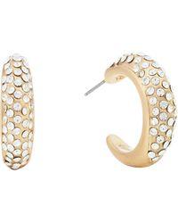 Pilgrim - Gold Plated Crystal 'adey' Hoop Earrings - Lyst