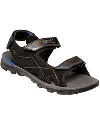 Regatta Kota Drift' Lightweight Hook And Loop Straps Water Friendly Eva Footbed Slip Resistant Sandals Sport - Black