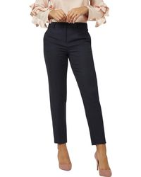 Dorothy Perkins - Blue Regular Textured Slim Leg Trousers - Lyst