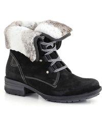 Josef Seibel - Dark Grey 'sally' Faux Fur Lined Womens Ankle Boots - Lyst