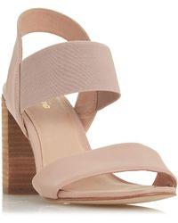 Dune - Light Pink Leather 'jumper' Sandals - Lyst