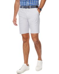 Racing Green - Big And Tall Light Grey Belted Oxford Chino Shorts - Lyst
