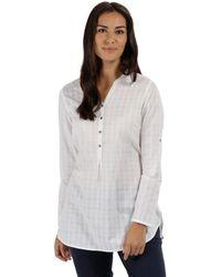 Regatta - White 'mackayla' Long Sleeved Shirt - Lyst