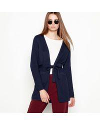 Minimum - Navy Cotton 'ginnie' Long Sleeve Longline Cardigan - Lyst