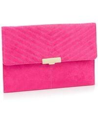 ec0048a7e51fc Vivienne Westwood Saffiano 51010001 Clasp Purse Pink in Pink - Lyst
