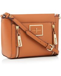 J By Jasper Conran - Faux Leather Double Zip Cross Body Bag - Lyst