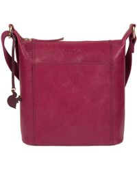 97c047e09fd Conkca London - Orchid 'yasmin' Leather Shoulder Bag - Lyst