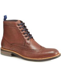 Lotus - Brown Leather 'aldridge' Lace Up Brogue Boots - Lyst