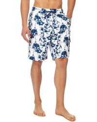 Red Herring - White Skull Print Swim Shorts - Lyst
